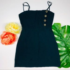 Urban outfitters navy blue button down dress 0
